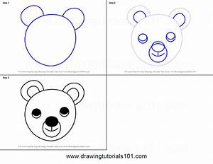 How to Draw a Bear Face for Kids printable step by step ...
