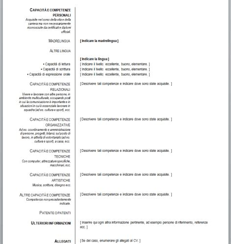 Curriculum Vitae Europeo (da Compilare)  Download. Cover Letter Examples Operations Manager. Cover Letter For Administrative Assistant At University. Resume Cover Letter Generator. Ejemplos De Curriculum Vitae Europeo Hechos. Cover Letter For Marketing Graduate Scheme. Applying For A Job Via Email What To Say. Curriculum Vitae Modello Laureando. Cover Letter For Virtual Assistant With No Experience