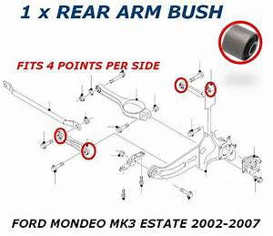 For Ford Mondeo Mk3 Estate Rear Trailing Upper Lower