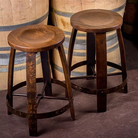 oak bar chairs barrel ring barstool by the oak barrel company wine 1125