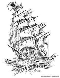 Old Pirate Ship Tattoo | SAIL | Pinterest