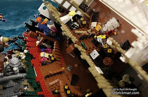 Lego Ship Sinking Titanic by Sinking Lego Titanic Required 120 000 Pieces To