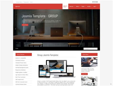 Template Joomla by Joomla Template Group Joomlaplates