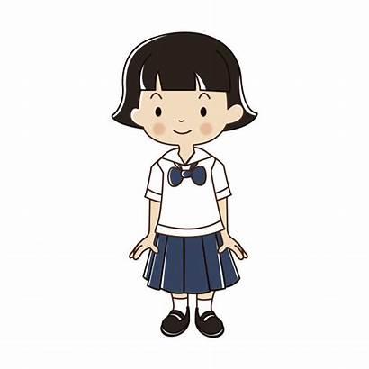 Thai Vector Student Cartoon Uniform Illustration Premium