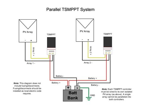 parallel charging  multiple controllers  separate pv arrays morningstar corporation