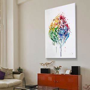 Large wall art big canvas prints icanvas for What kind of paint to use on kitchen cabinets for large floral canvas wall art
