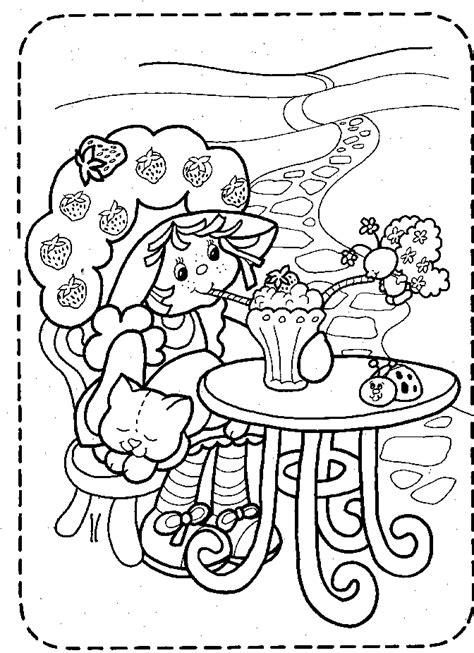 belajar mewarnai  tokoh kartun strawberry shortcake