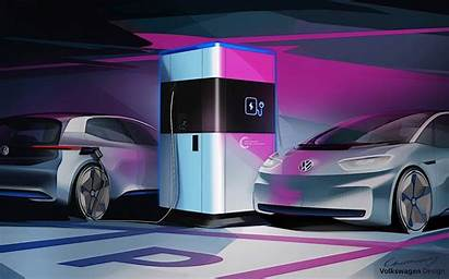 Charging Fast Mobile Station Volkswagen Electric Vehicles