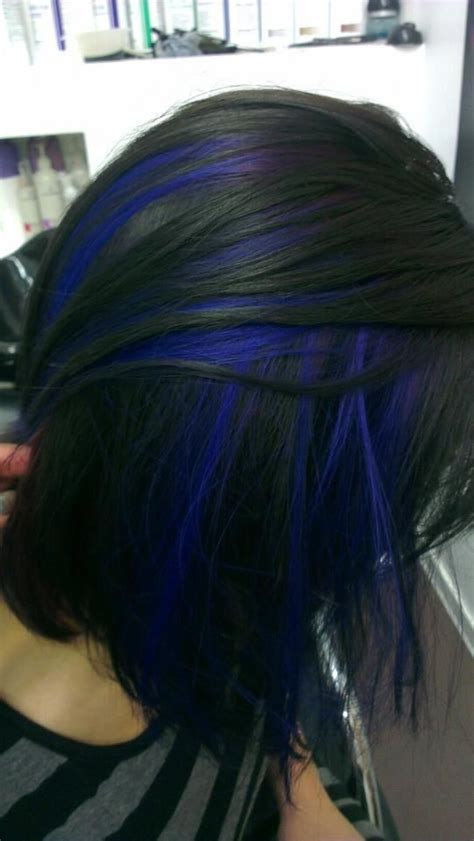 Blue And Brown Hair With Purple Highlights Blue And Brown