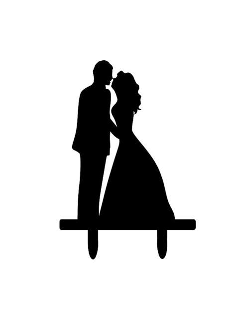 items similar  bride  groom silhouette cake topper