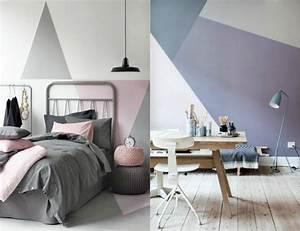 peinture decorative dessin geometrique sublimez les murs With chambre bébé design avec envoyer rose a domicile