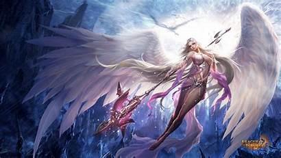 Angels League Angel Warrior Wallpapers Fantasy Fortuna