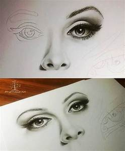 Eyes  Nose And Lips Pencil Drawing Tutorial