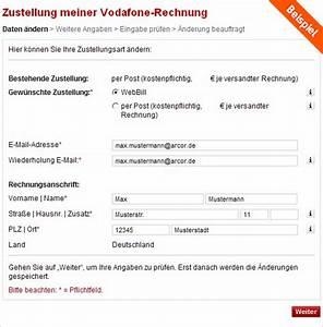 Meinvodafone De Rechnung : hilfe form versand rechnung ~ Themetempest.com Abrechnung