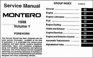 1998 Mitsubishi Montero Repair Shop Manual Set Original