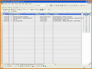monthly expense spreadsheet template expense spreadsheet With yearly budget planner template