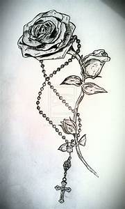 rose tattoos with rosery | rose and rosary tattoo by ...