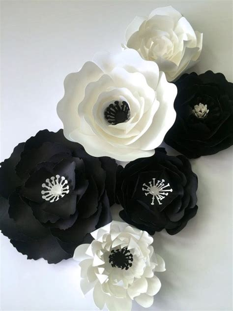 paper flower wall decor paper flower backdrop black