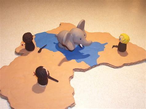 african elephant  clay elephant art construction