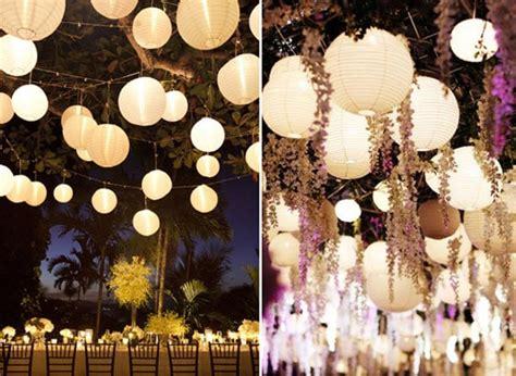 idee deco mariage lanterne en papier eclairage de nuit 1