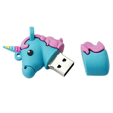 usb flash drive lovely colorful unicorn  drive gb gb