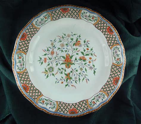 assiette faience de gien decor rouen au sainfoin ebay