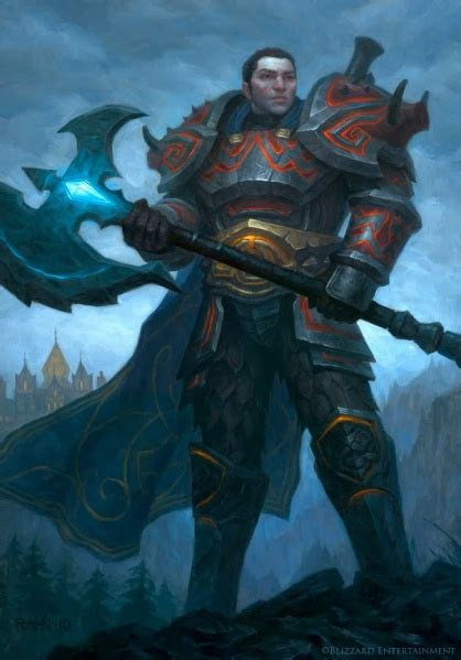 human warrior warcraft warriors races wow paladin fantasy character rahn peter knight ilustrador christopher death wikia luc fictional redone campaign