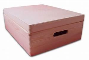 Aufbewahrungsbox Mit Deckel Holz : aufbewahrungsbox holzkiste mit deckel und griffl chern kiefer unbehandelt gr 2 ebay ~ Bigdaddyawards.com Haus und Dekorationen