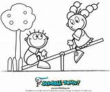 Seesaw Coloring Pages Saw Playground Drawing Sketch Fun Printable Crafts Scribble Template Getdrawings Map sketch template