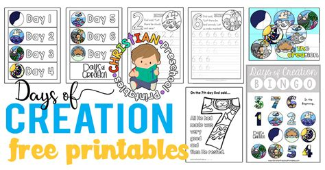 creation preschool printables christian preschool printables 826 | DaysCreationPrintables