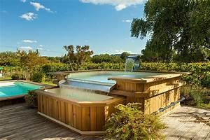 Piscine Hors Sol Bois Petite Dimension : piscine bois d bordement construction de piscine en ~ Zukunftsfamilie.com Idées de Décoration