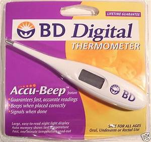 Bd Digital Thermometer Instructions