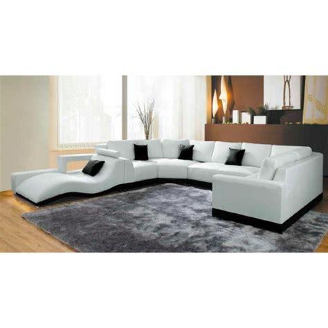cdiscount canape cuir canapé panoramique cuir blanc avec méridienne achat