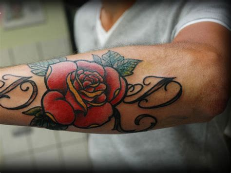 blazing hot rose tattoos  men tattoosdesignidea
