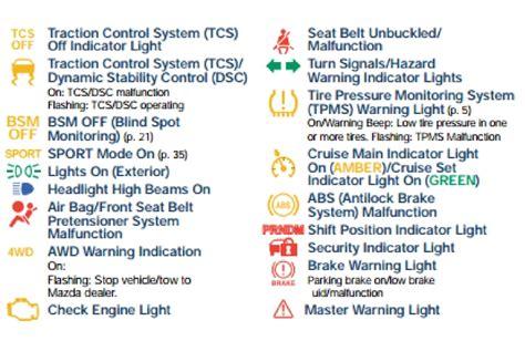 mazda warning lights type bo serra mazda