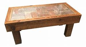 brick tile coffee table chairish With the brick coffee tables