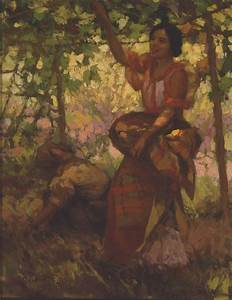 Under the arbor by Fernando Amorsolo. | Artworks ...