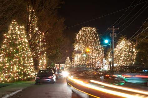 christmas town usa  night  stock photo public