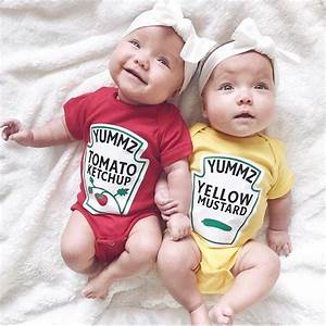 Twins Outfits Ketchup and Mustard Twins Outfits Premium