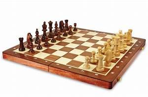 Jeu D échec Design : jeu d 39 checs grand format en bois teint acajoucm ~ Preciouscoupons.com Idées de Décoration