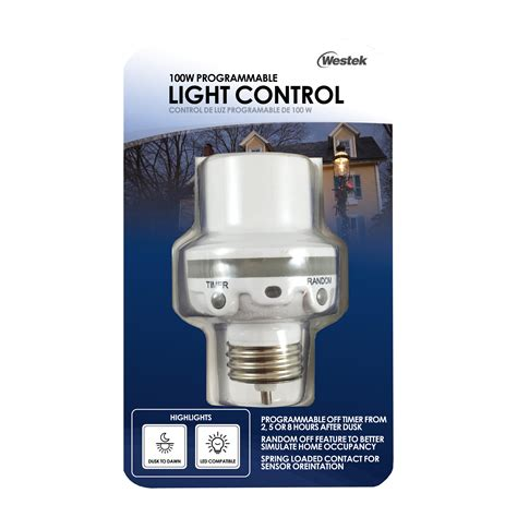outdoor light bulb timer westek slc6cbc 4 100w programmable in light control