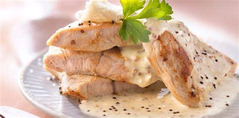 recette de cuisine escalope de dinde escalope de dinde à la moutarde facile et pas cher
