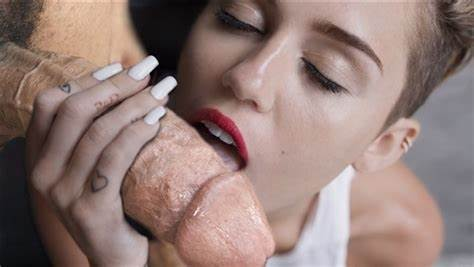 Best Massive Ball For Biggest Tongue Miley Cyrus Licks Penis In 'Wrecking Ball' Outtake
