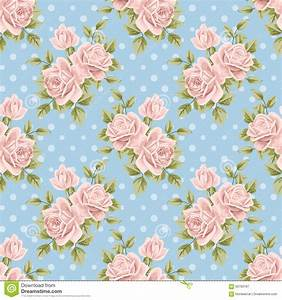 Seamless Pattern With Roses Stock Vector - Image: 60763187