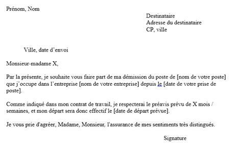 modèle lettre de démission contractuel fonction publique mod 232 le de lettre de d 233 mission gratuite cdi covering