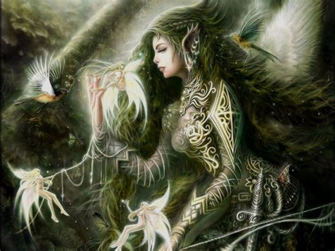 gothic fairies wallpaper