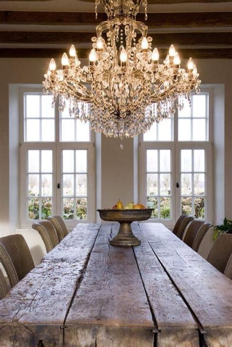 chandelier dining room table dining rooms