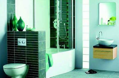 foto desain kamar mandi minimalis hijau