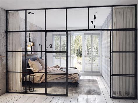 interior glass walls for homes concrete finish studio apartments ideas inspiration