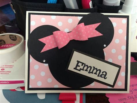 minnie mouse  images homemade birthday cards st